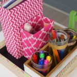 Easy DIY School Supplies and Craft Organizer