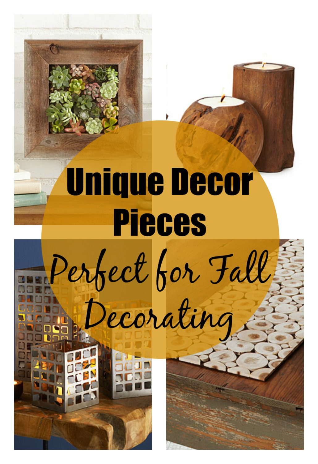 Unique Decor Pieces Perfect for Fall Decorating