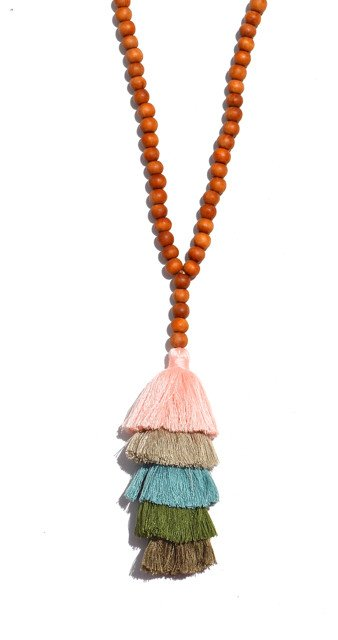 Sunset Tassel Stacked Necklace from Accessory Concierge