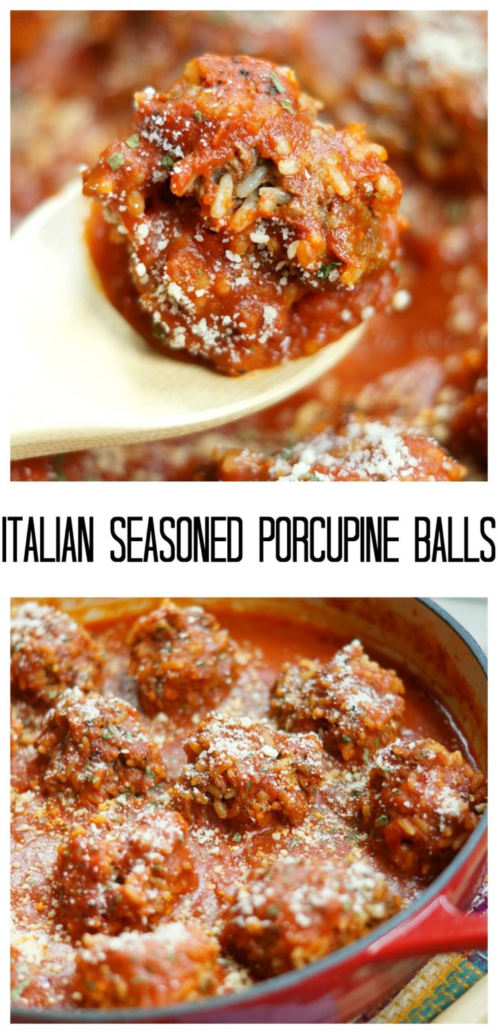 Italian Seasoned Porcupine Balls