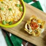 Mini Wonton Tacos and Cheesy Salsa Potatoes