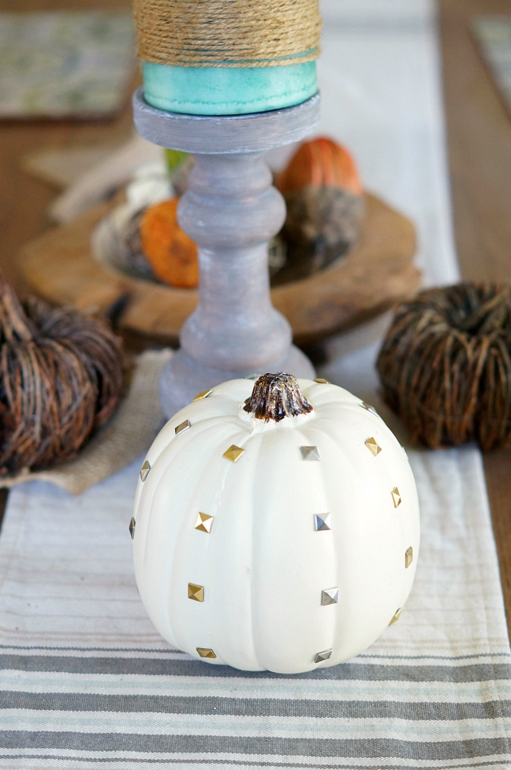 Easy DIY Studded Pumpkins