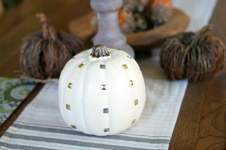 East DIY Studded Pumpkins