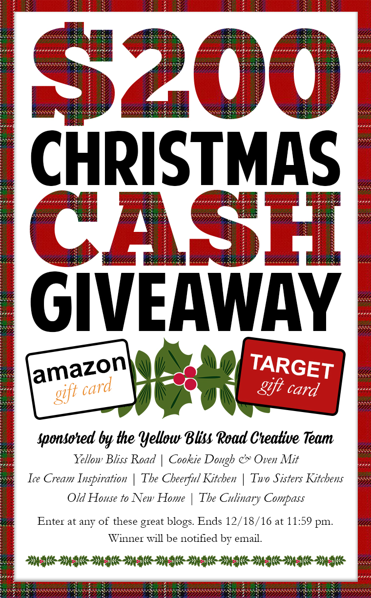 $200 Christmas Cash Giveaway Sponsored by the Yellow Bliss Road Creative Team!