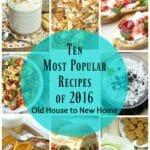 Ten Most Popular Recipes of 2016