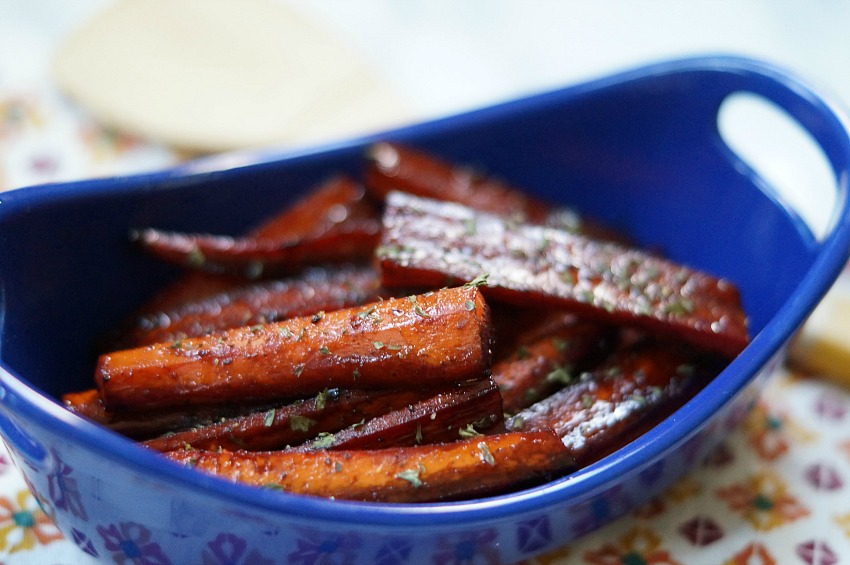 Balsamic and Brown Sugar Roasted Carrots