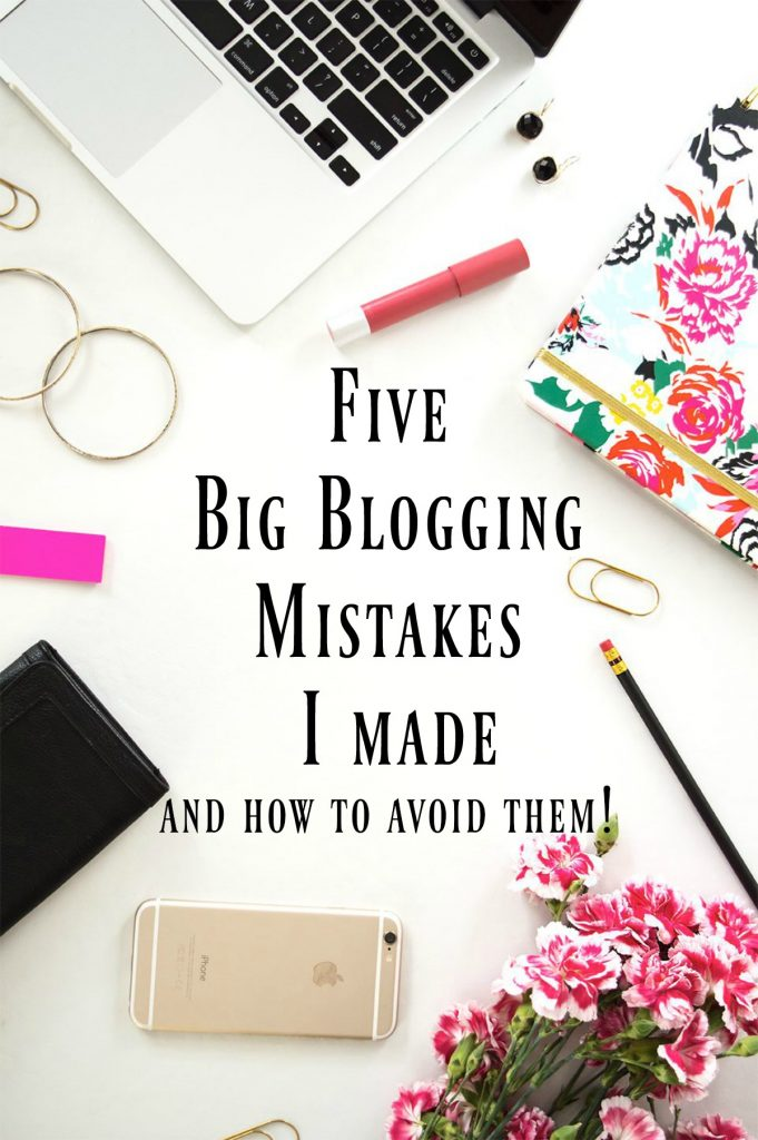 How to avoid common mistakes bloggers make in the beginning!