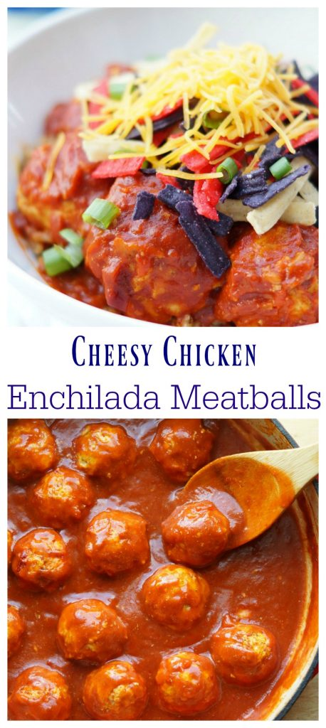 Cheesy Chicken Enchilada Meatballs