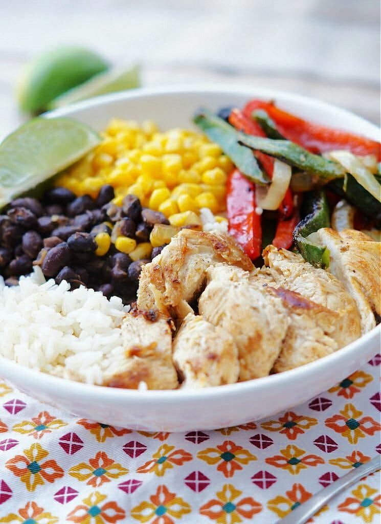 Chicken Fajita Bowls