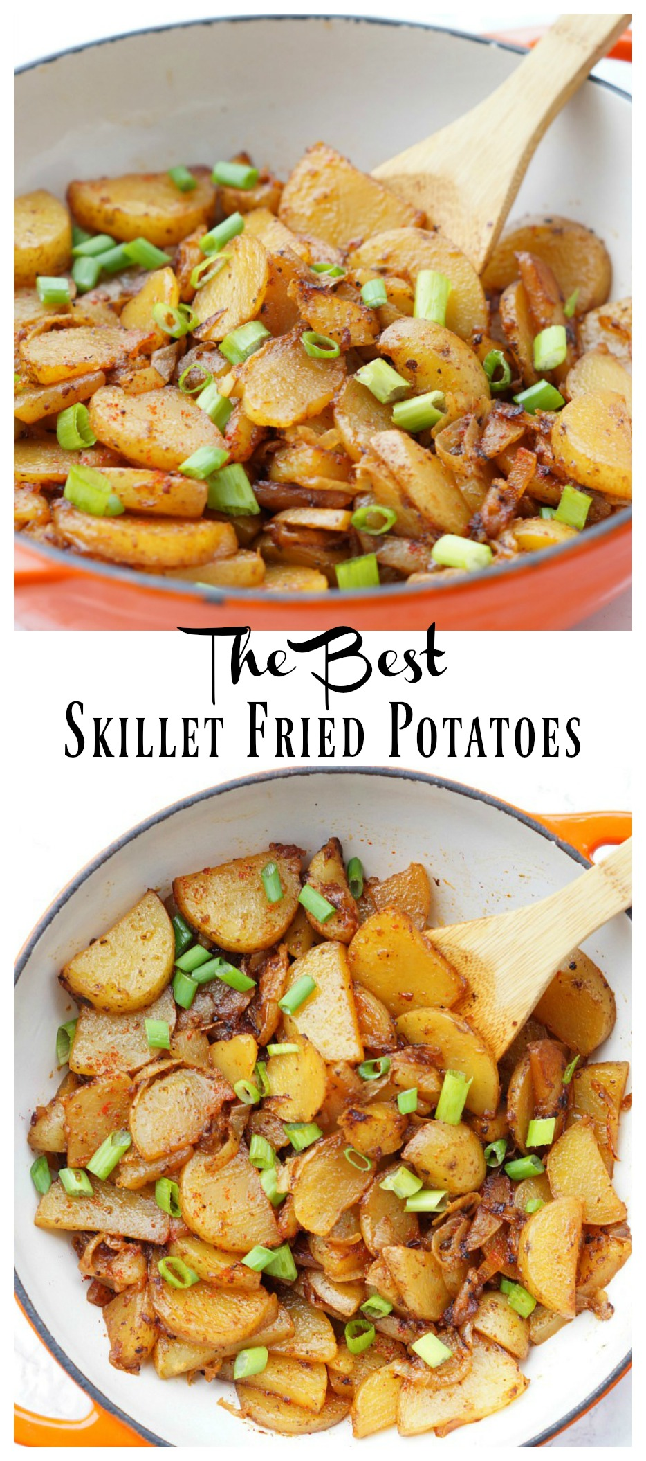 The Best Skillet Fried Potatoes with Two Secret Ingredients that make these perfect!