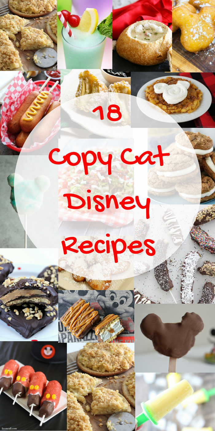 Eighteen Delicious Disney Copy Cat Recipes!