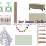 One Room Challenge: Week Four Basement Family Room and Playroom