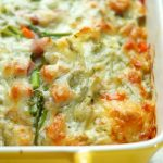 Ham and Asparagus Strata with Red Peppers and Swiss