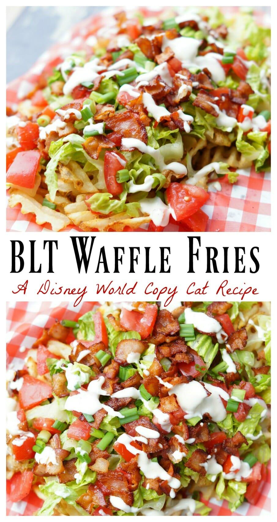 Just like Disney's World's BLT Waffle Fries