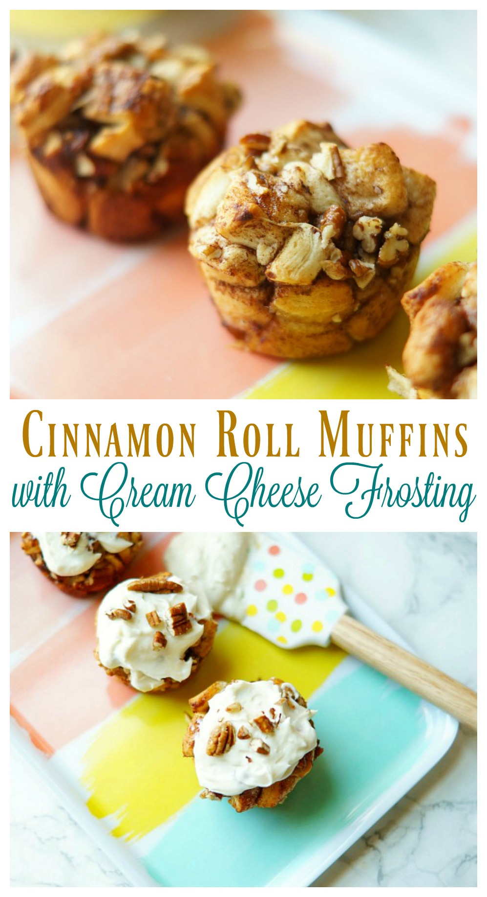 Cinnamon Roll Muffins with Cream Cheese Frosting