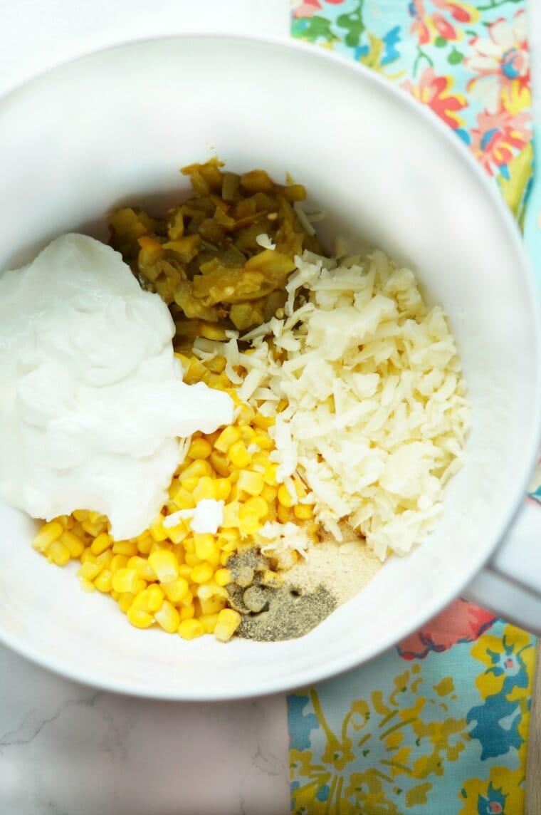 Cheesy Corn and Green Chile Rice