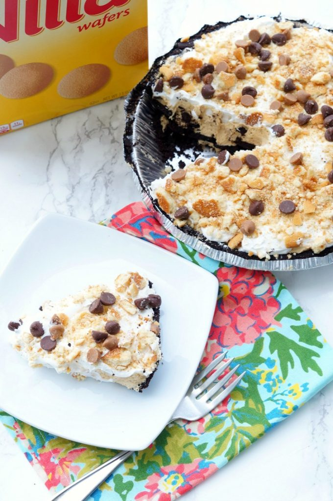 Double Cookie No Bake Peanut Butter Pie