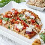 Caprese Tuna Melt Flatbreads