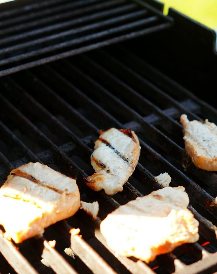 Grilled BBQ Cheddar Pork Sandwiches
