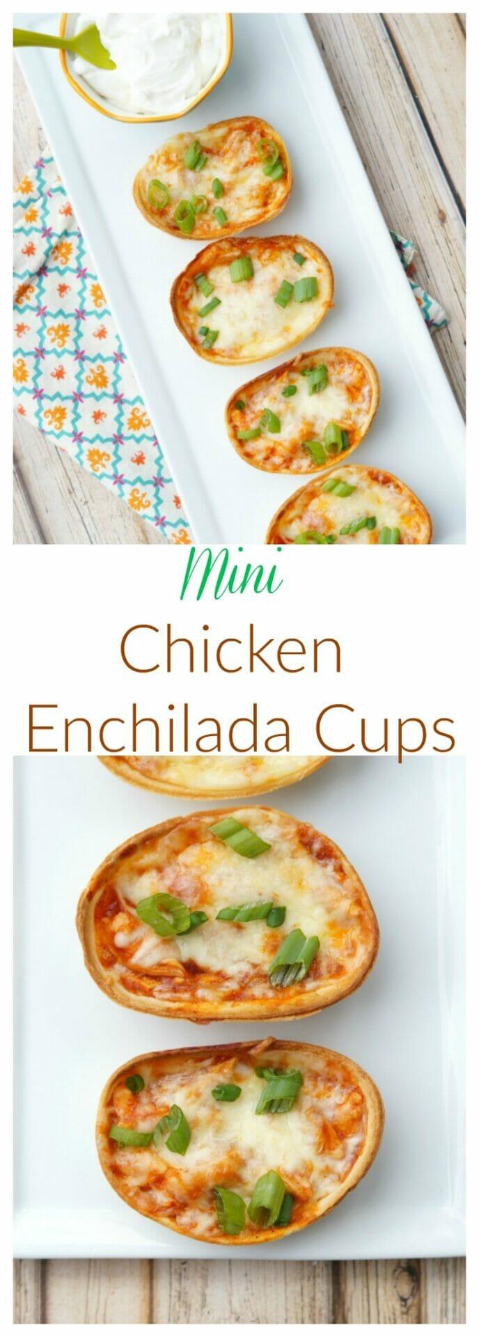 Easy Mini Chicken Enchilada Cups