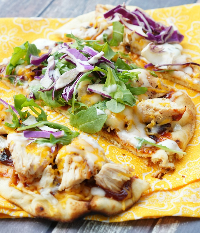 Grilled BBQ Chicken Flatbreads