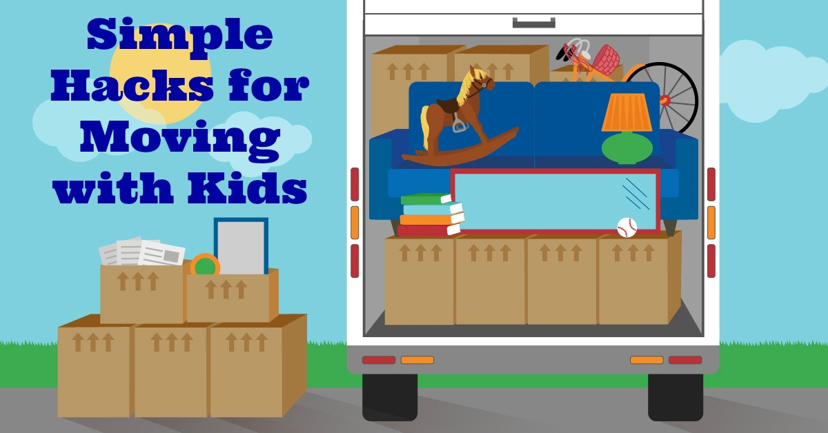 Simple hacks for moving with children for Minimalist moving house