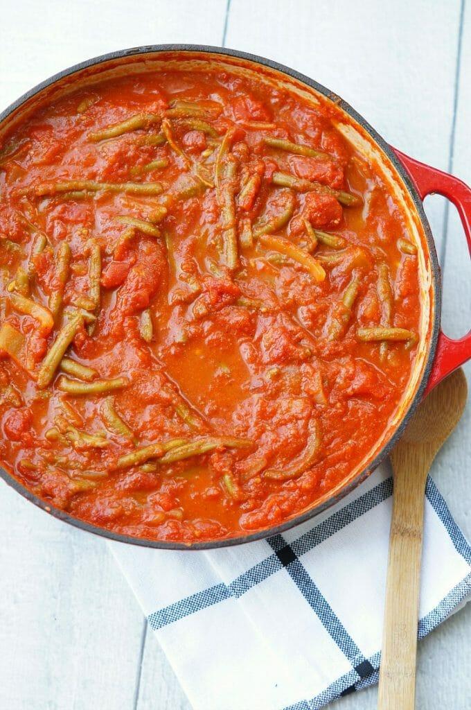 Lebanese Green Beans in Tomato Sauce