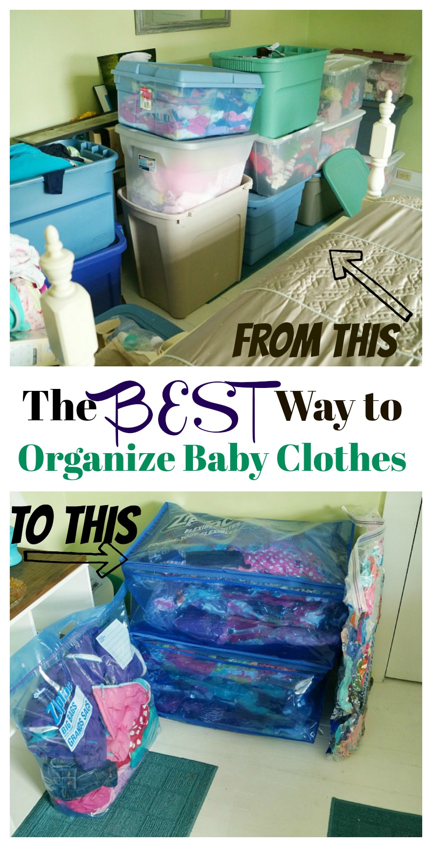f10860be346 The Best Way to Organize Baby Clothes