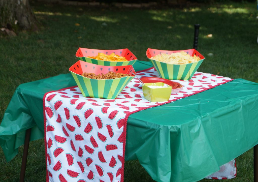 One in a melon birthday party decor