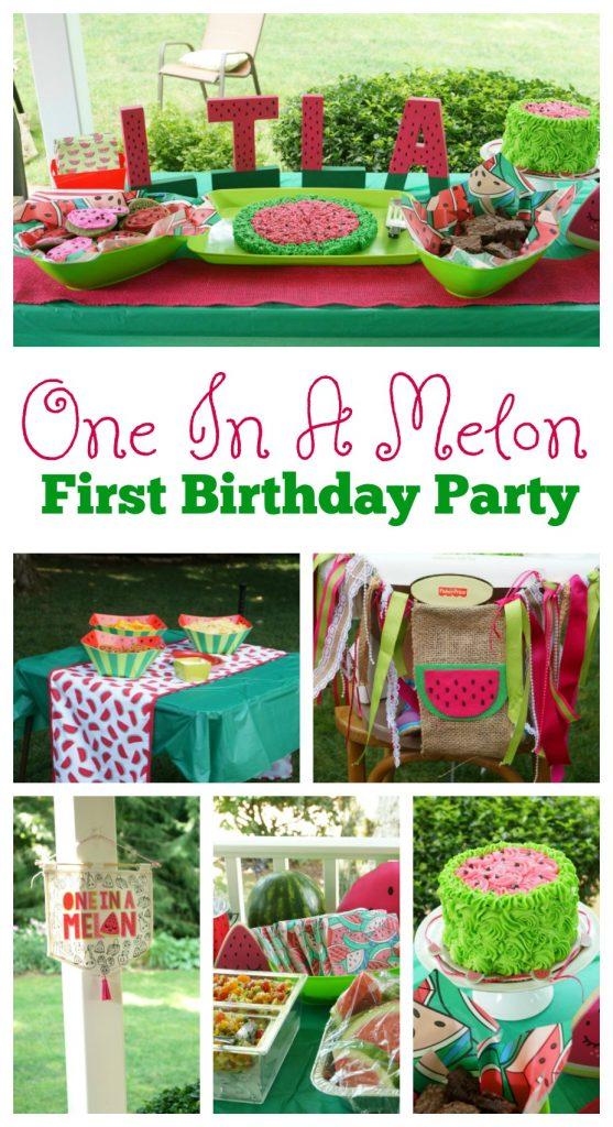 One In A Melon First Birthday Party Theme For a Girl