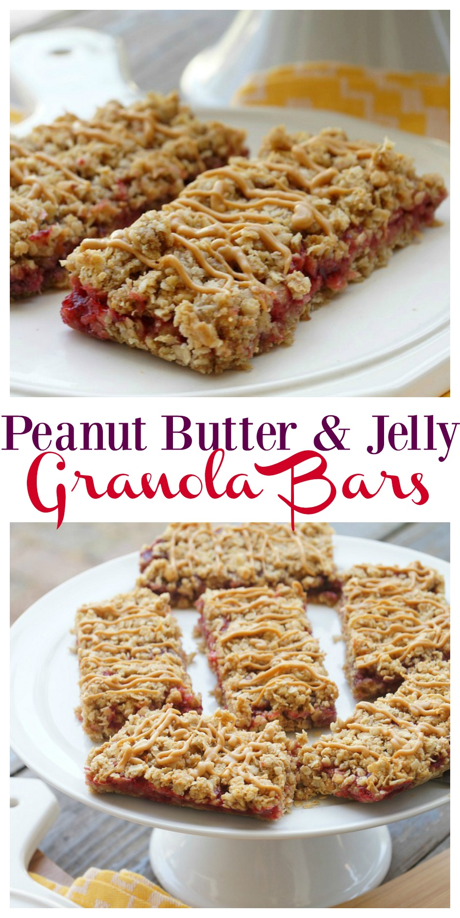 Simple Homemade Peanut Butter and Jelly Granola Bars