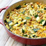 Zucchini, Corn, and Stuffing Casserole