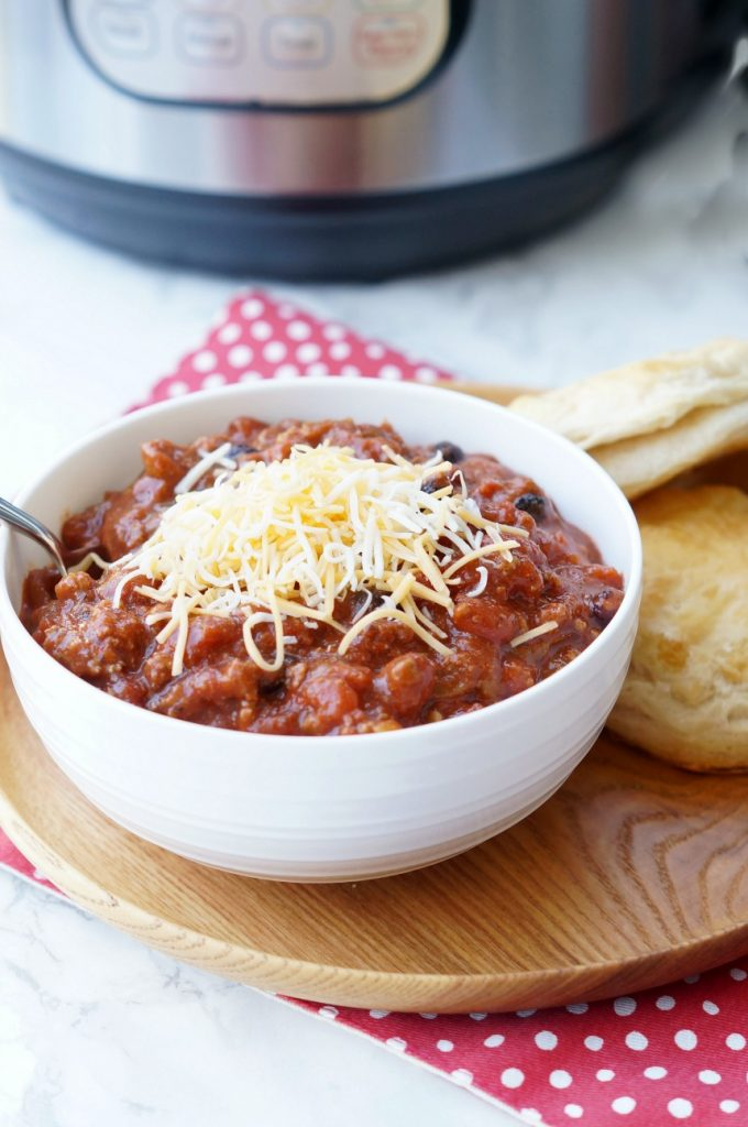 Instant Pot Classic Beef Chili, an easy comfort food recipe for the Instant Pot!