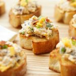 Cheddar Bacon Garlic Crostini