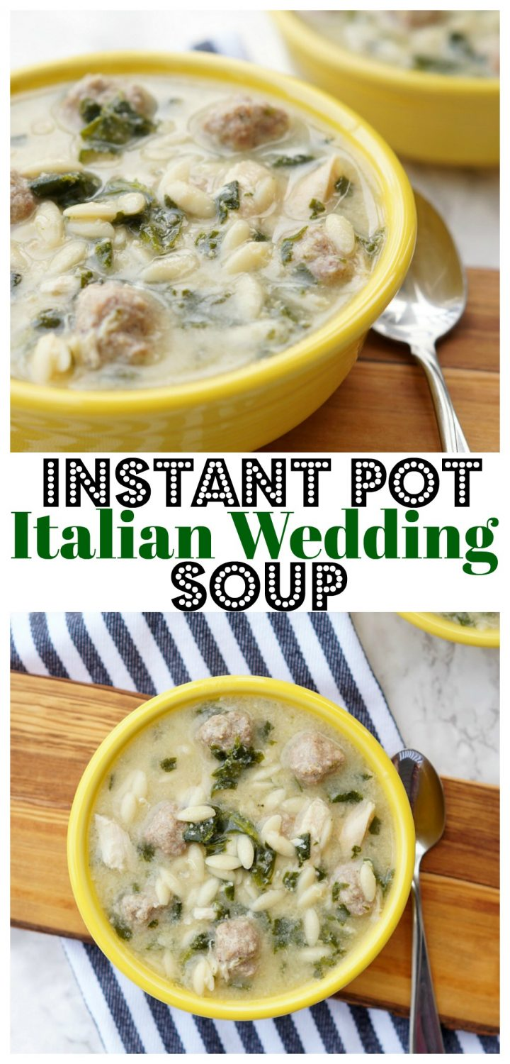 Instant Pot Italian Wedding Soup made in the Instant Pot in four minutes!