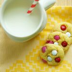 Cake Batter M&M Cookies