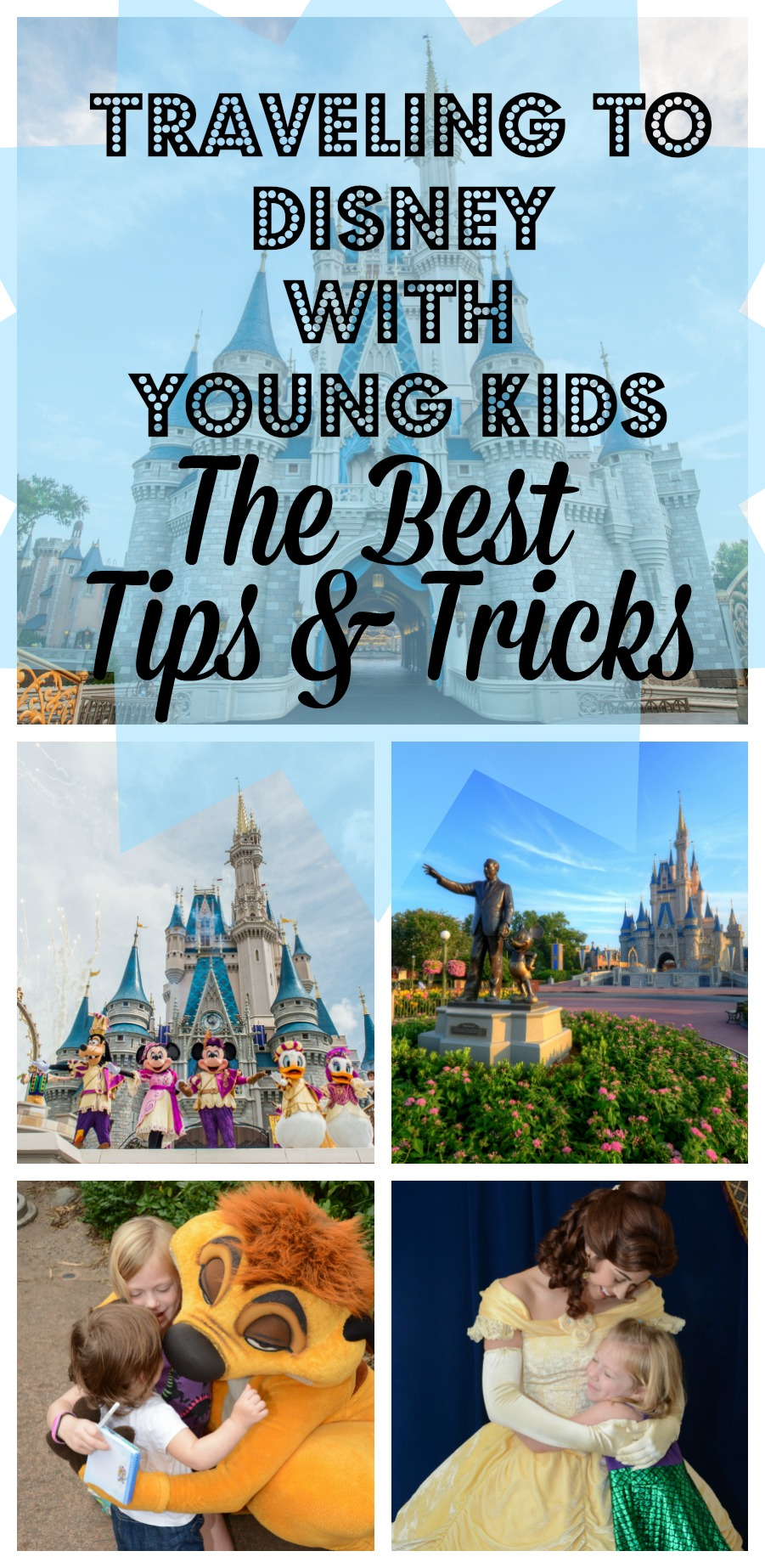 How to Travel to Disney with Young Kids, including toddlers or preschoolers! How to plan the perfect trip to Disney without any stress!