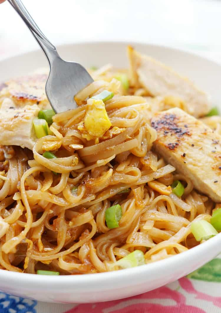 Easy Chicken Pad Thai made at home!