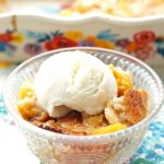 Easy Peach Cobbler with Bisquick
