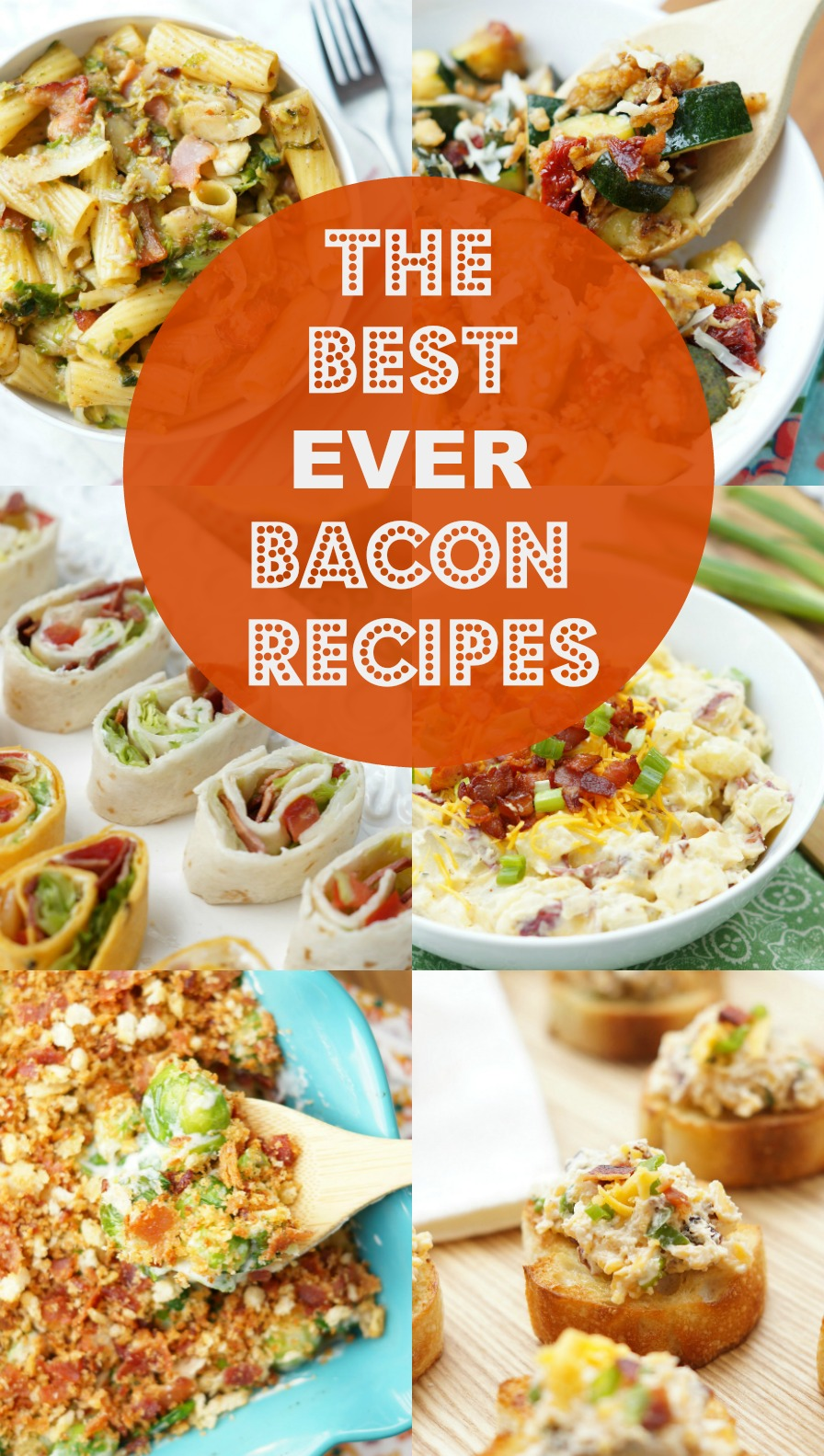 The Best Ever Bacon Recipes, you will love this amazing list of appetizers with bacon and the best dinner recipes with bacon!