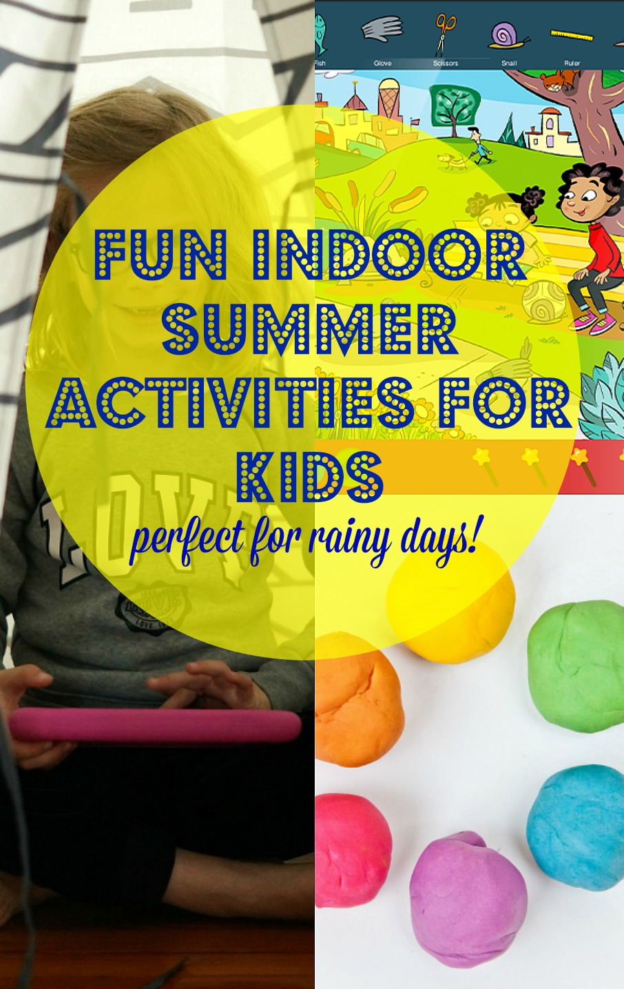 Fun Indoor Summer Activities for Kids, no prep ideas that are perfect activities for rainy days!
