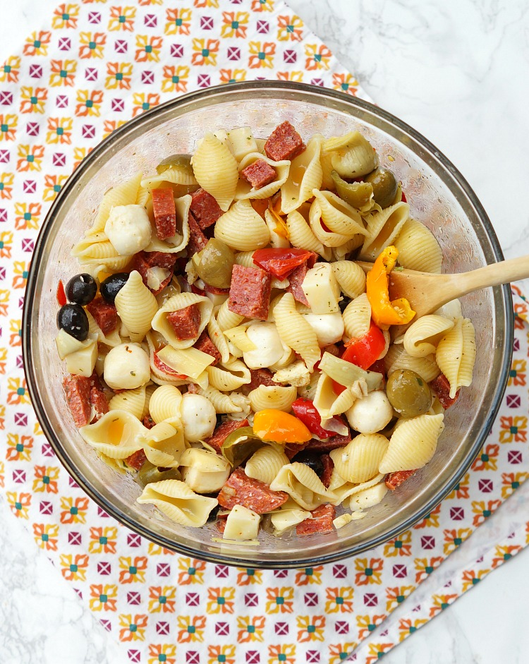 Antipasto Pasta Salad, this is the easy pasta salad recipe you've been looking for!