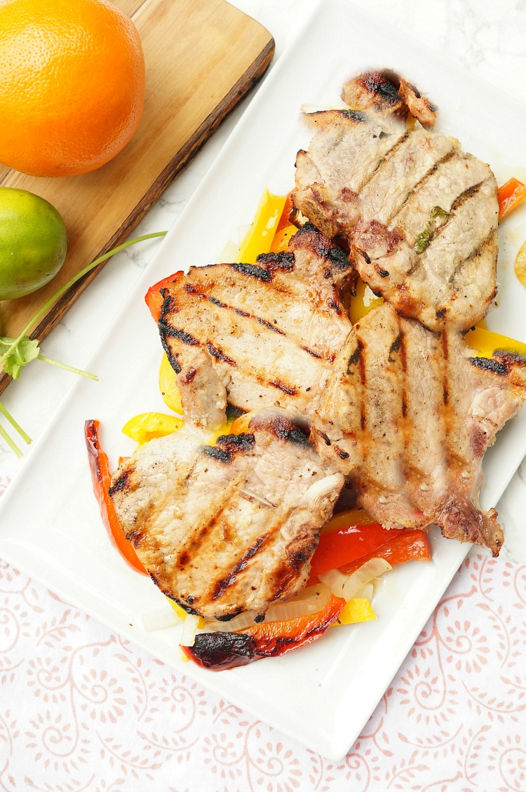 Easy Grilled Cuban Pork Chops