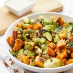 Roasted Sweet Potato and Brussels Sprout Salad