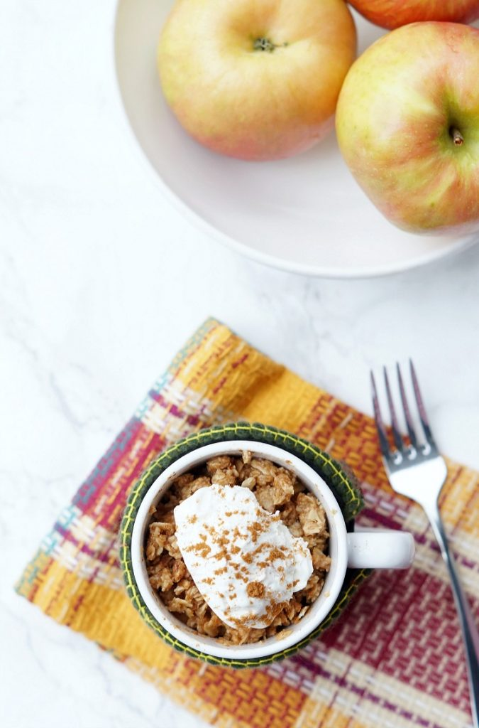 Microwave Apple Crisp in a Mug