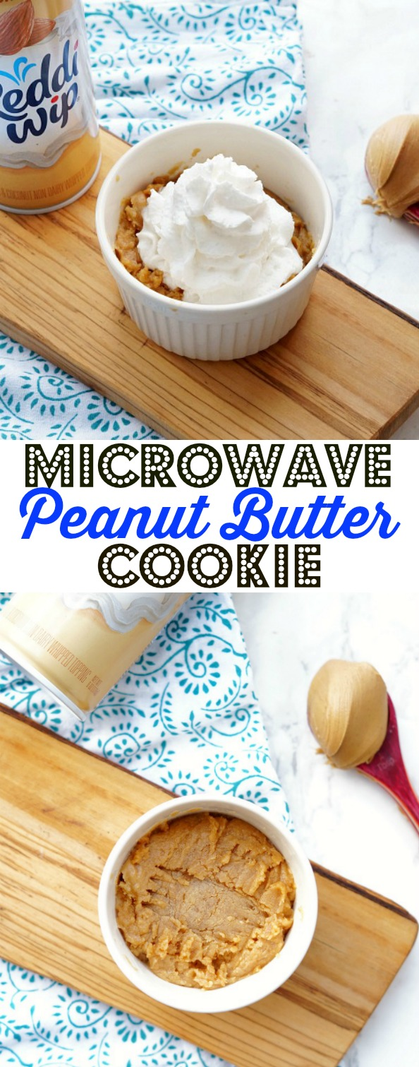 Non-Dairy Microwave Peanut Butter Cookie in a Mug