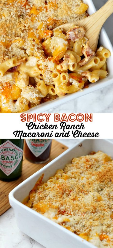Spicy Bacon Chicken Ranch Macaroni and Cheese