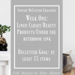 January Declutter Challenge Week One