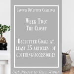 January Declutter Challenge Week Two