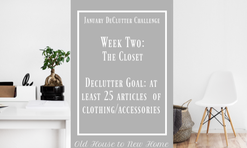 January Declutter Challenge Week Three